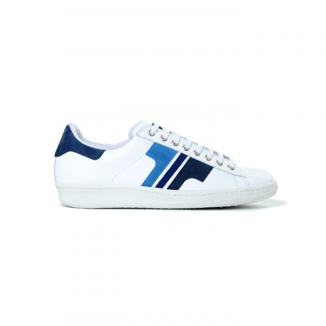 Tisza shoes - Tradíció '80 - White-3blue