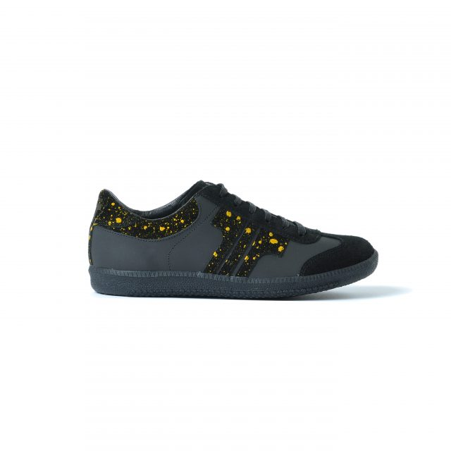 Tisza shoes - Black-splash yellow