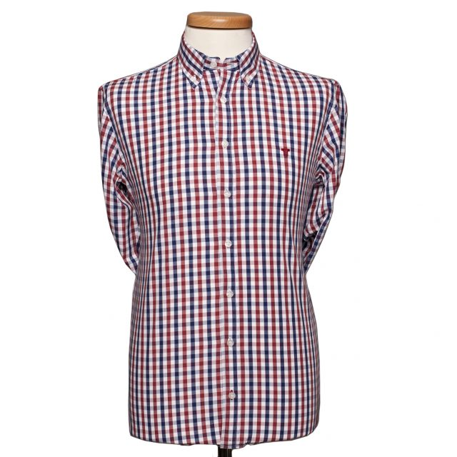 Tisza shoes - Shirt - Blue-red