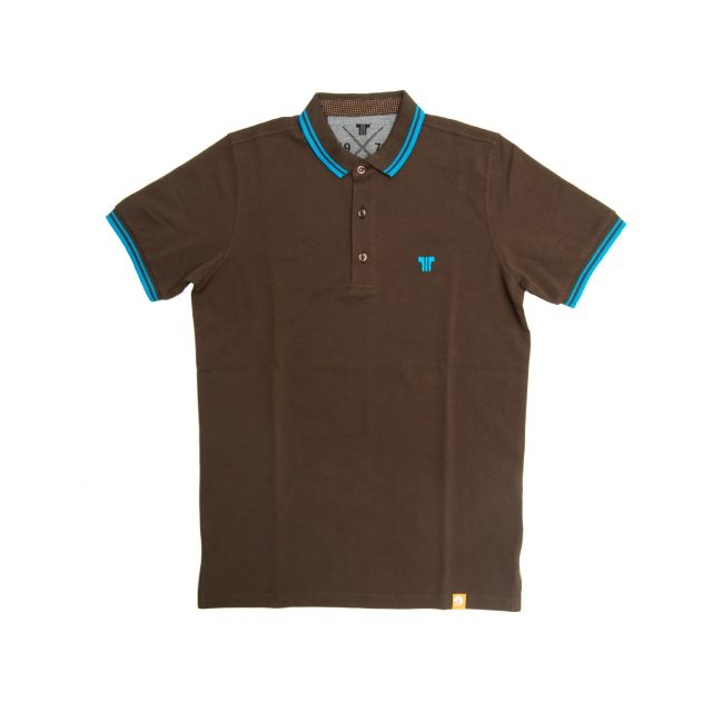 Tisza shoes - Tennis shirt - Brown-azure