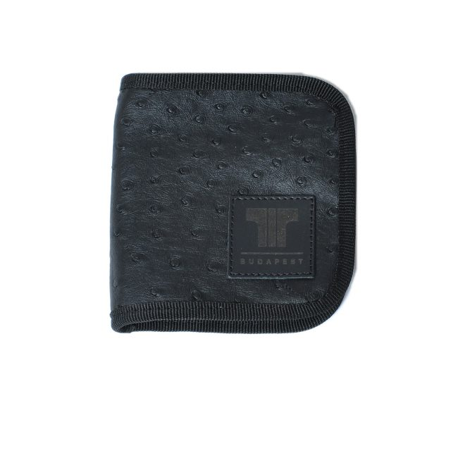 Tisza shoes - Wallet - Black-ostrich
