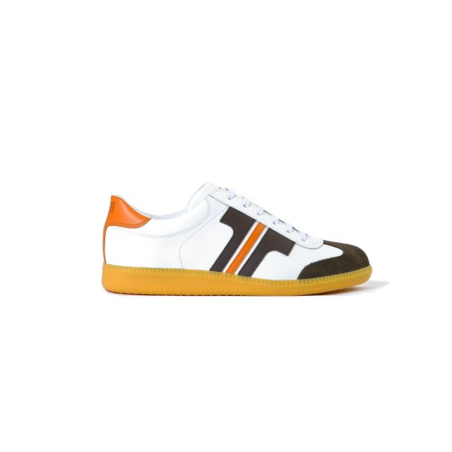 Tisza shoes - Compakt - White-brown-orange