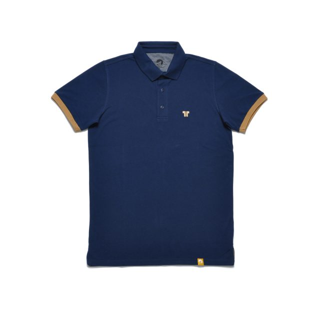 Tisza shoes - Tennis shirt - Navy-tobacco
