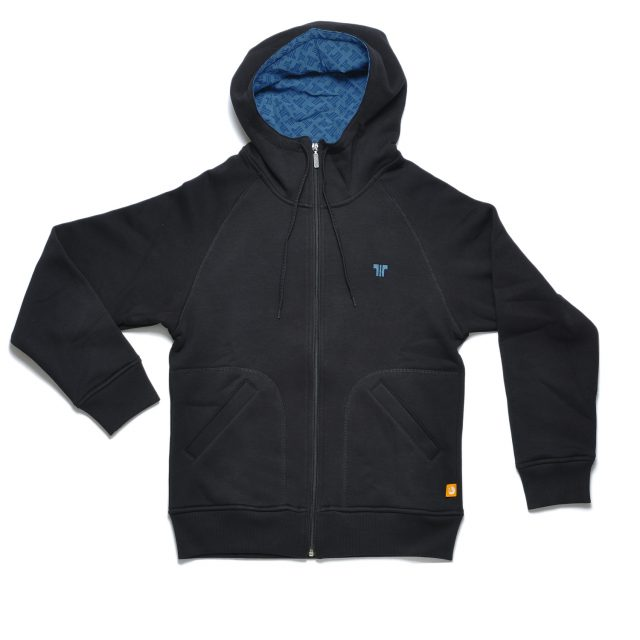Tisza shoes - Pullover - Black-blue hoodie
