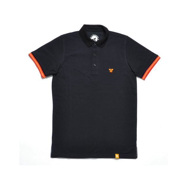 Tisza shoes - Tennis shirt - Black-orange