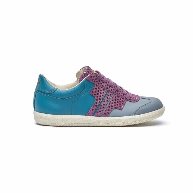 Tisza Shoes - Compakt - grey-purpledot-bluecoral