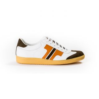 Tisza shoes - Compakt - White-orange-brown