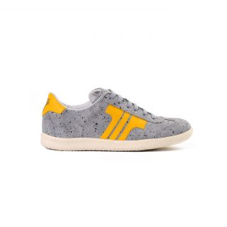 Tisza shoes - Comfort - Grey-splash yellow