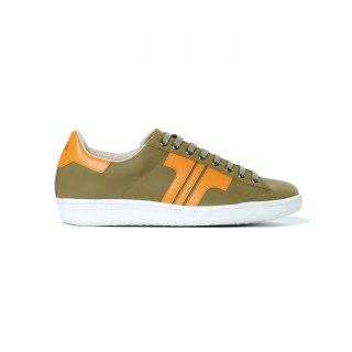 Tisza-shoes - Tradíció '80 - Khaki-orange