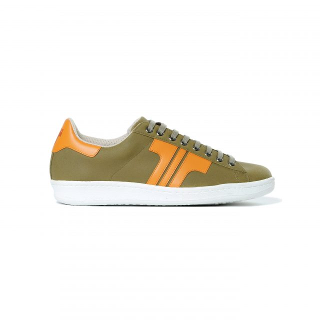 Tisza-shoes - Tradíció '80 - Khaki-orange