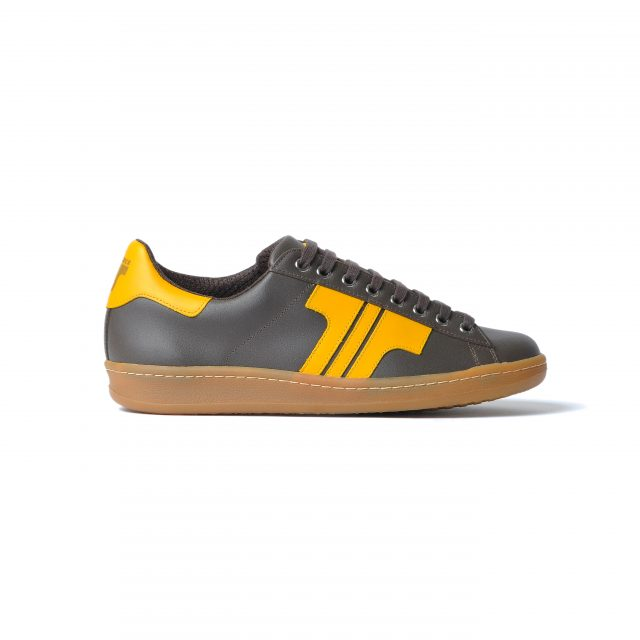 Tisza shoes - Tradíció '80 - Brown-yellow