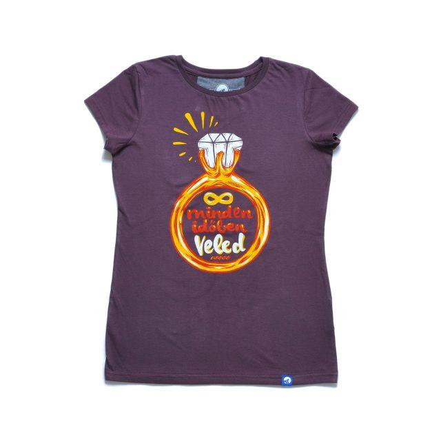 Tisza shoes - T-shirt - Women T-shirt claret