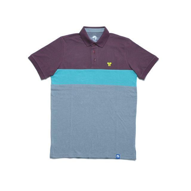 Tisza shoes - Tennis shirt - Claret-aqua-grey