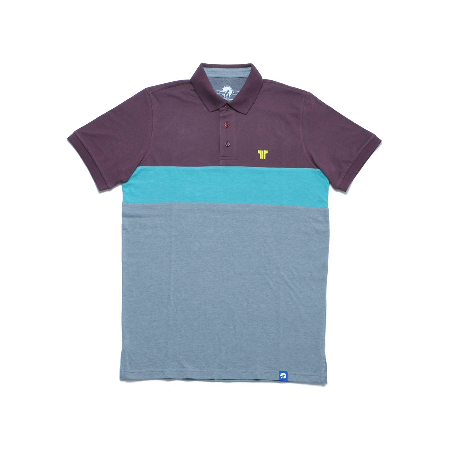 Tisza shoes - Tennis shirt - Claret-aqua-grey