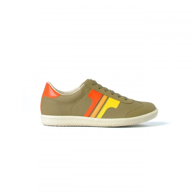 Tisza shoes - Compakt - Khaki-3yellow