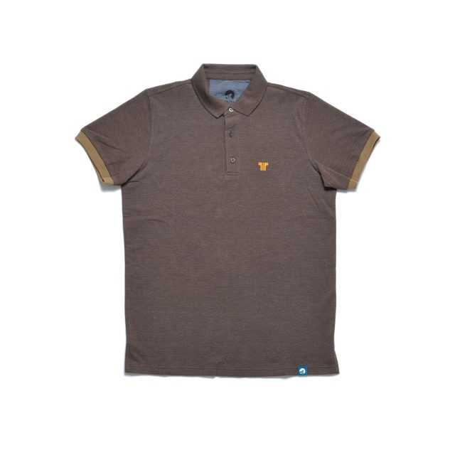 Tisza shoes - Tennis shirt - Brown-rust-gold