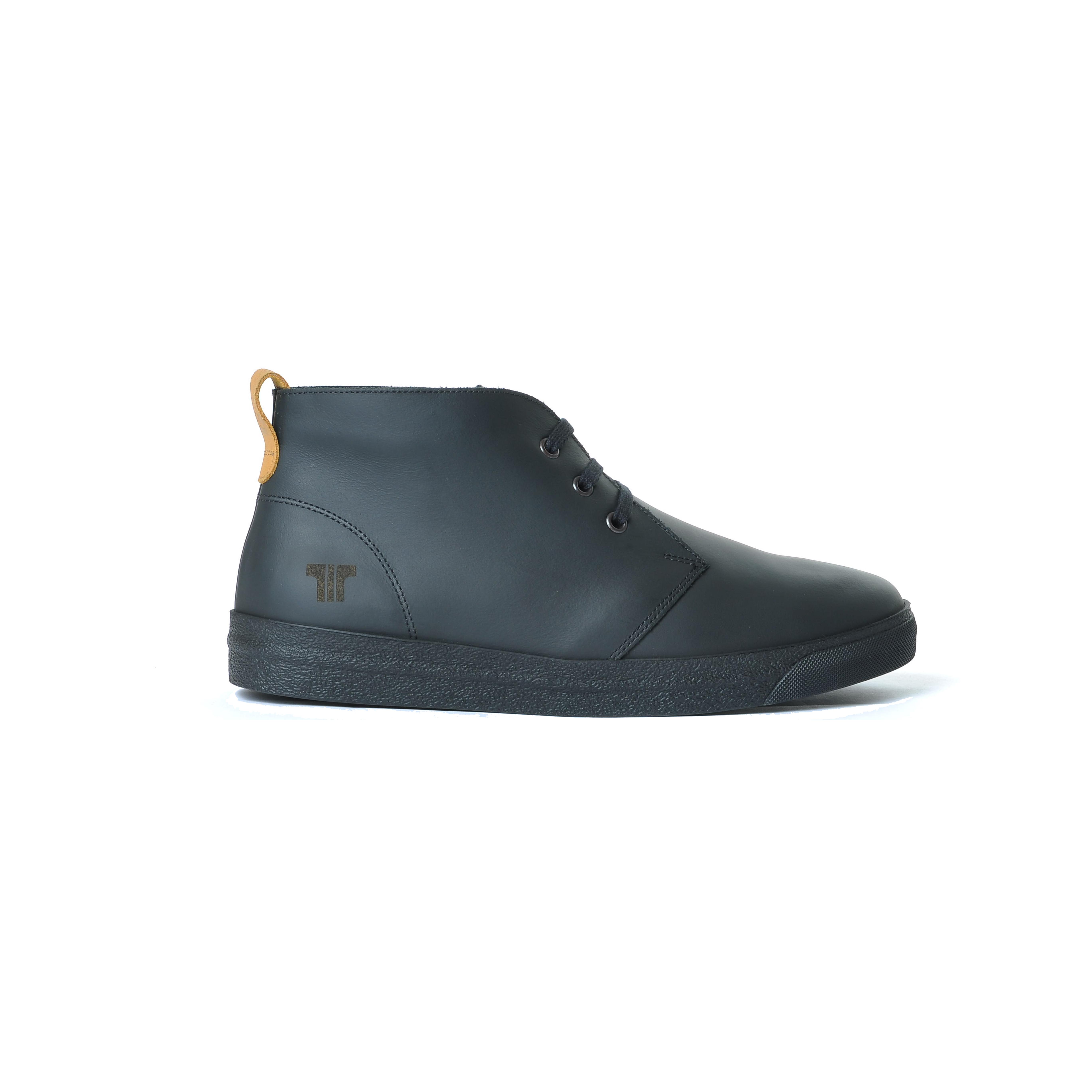 Tisza shoes - Alfa - Black-tobacco padded