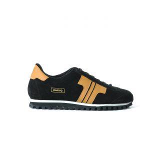 Tisza shoes - Martfű - Black-tobacco padded