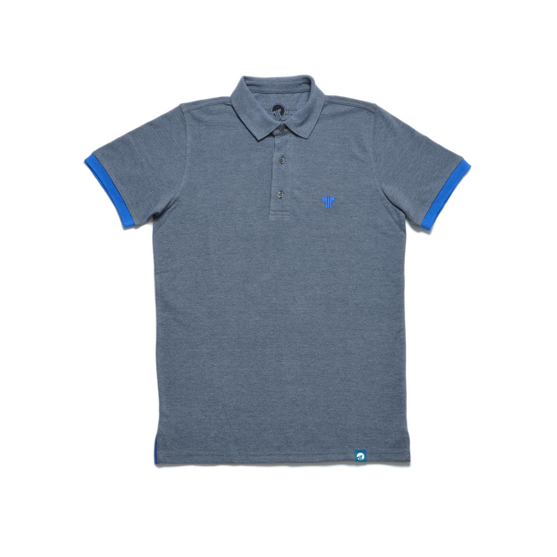 Tisza shoes - Tennis shirt - Grey-navy