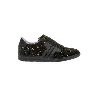 Tisza shoes - Comfort - Black-splash yellow