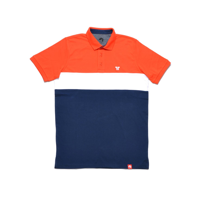 Tisza shoes - Tennis shirt - Red-navy