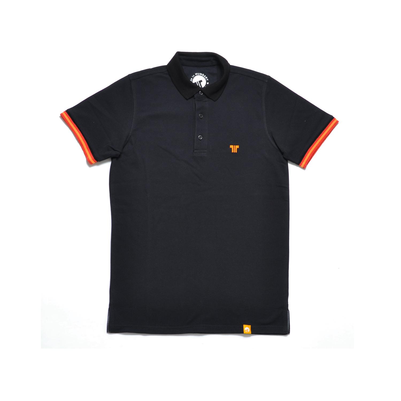 Tisza shoes - Tennis shirt - Black-orange