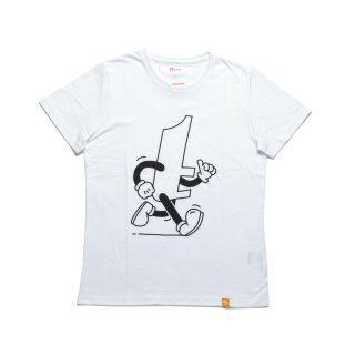 Tisza shoes - T-shirt - White-sprint