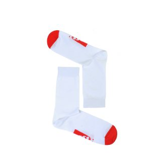 Tisza shoes - Socks - Sport White-red
