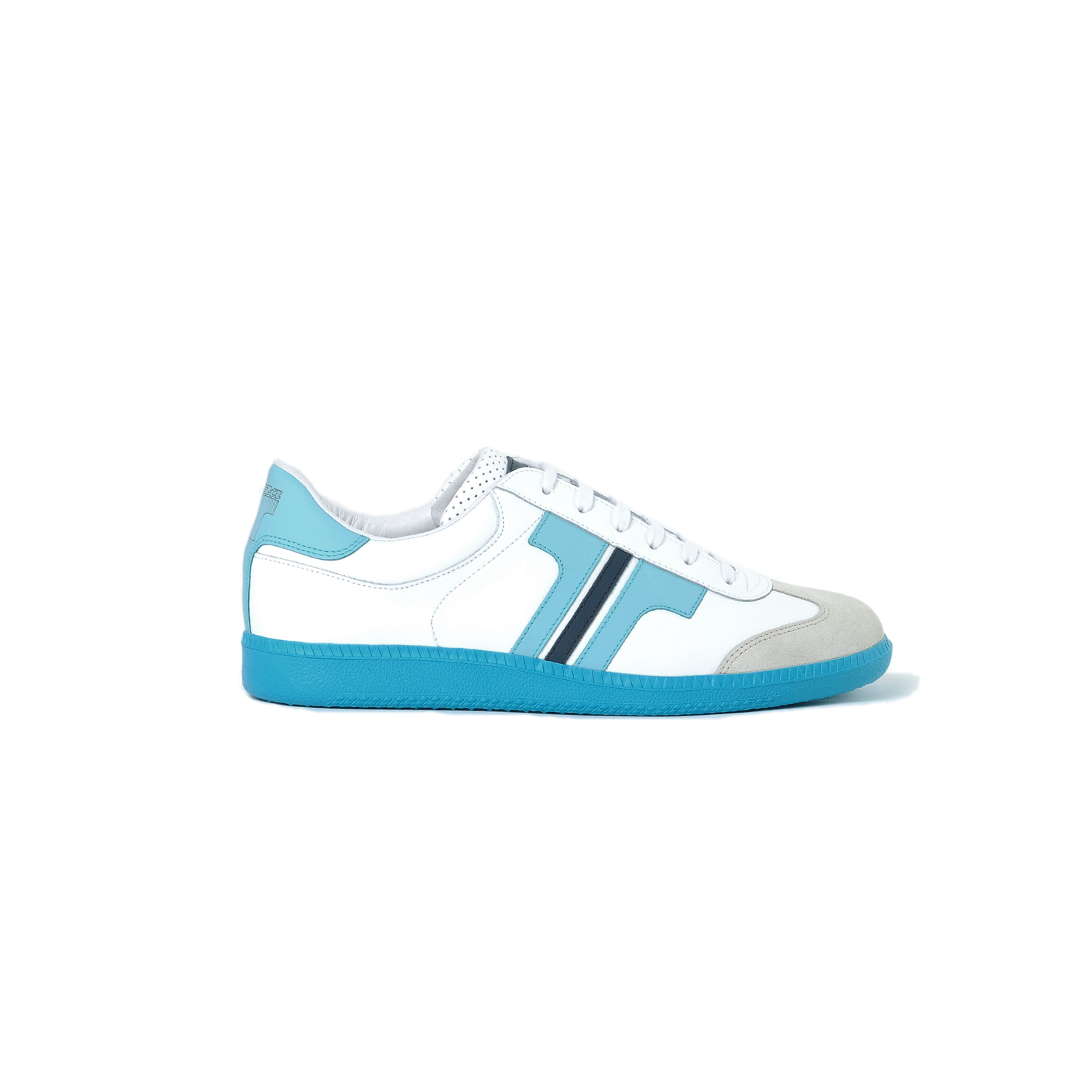 Tisza shoes - Compakt - White-lightblue-navy