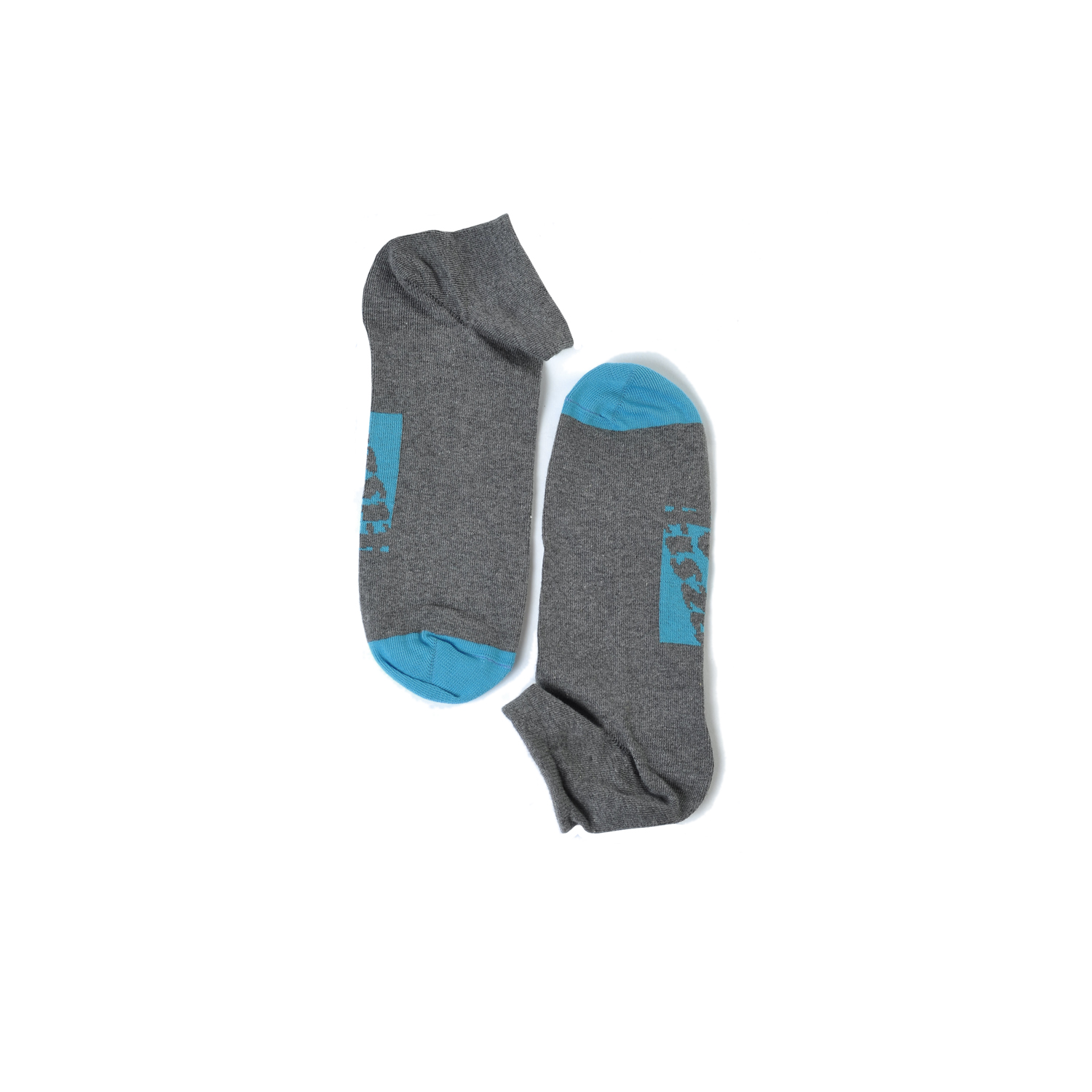 Tisza shoes - Socks - Grey-lightblue