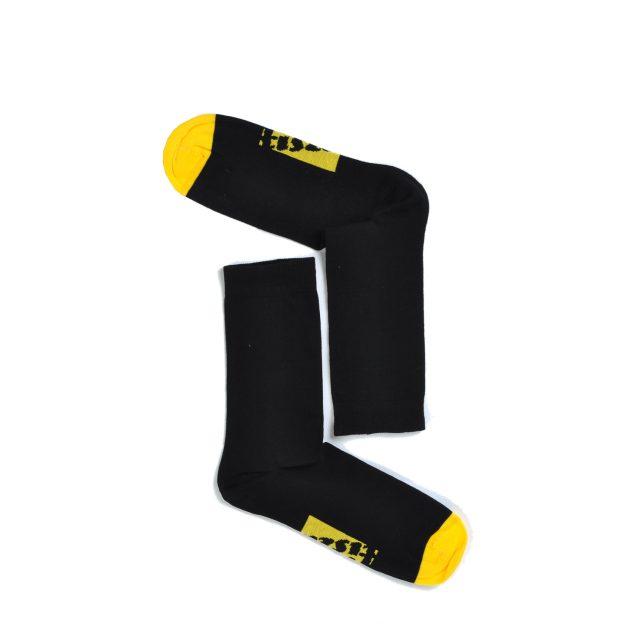 Tisza shoes - Socks - Sport Black-yellow