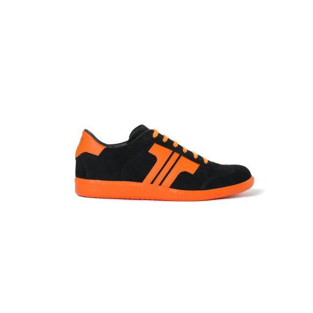 Tisza shoes - Comfort - Black-orange