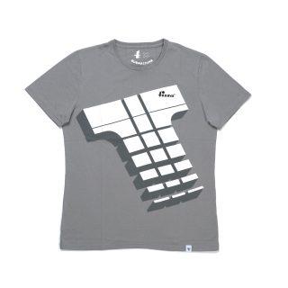 Tisza shoes - T-shirt - Derby grey