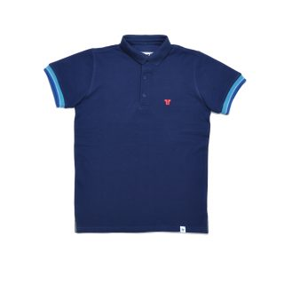 Tisza shoes - Tennis shirt - Navy-aqua