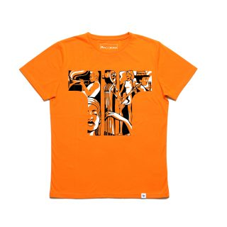 Tisza shoes - T-shirt - Orange-concert