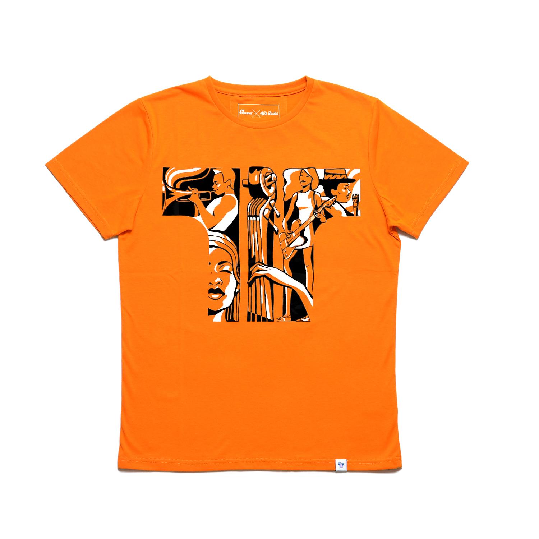 Tisza shoes - T-shirt - Orange-concert