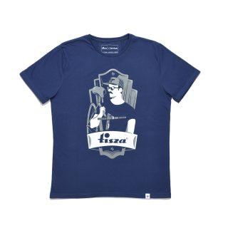 Tisza shoes - T-shirt - Navy-bike