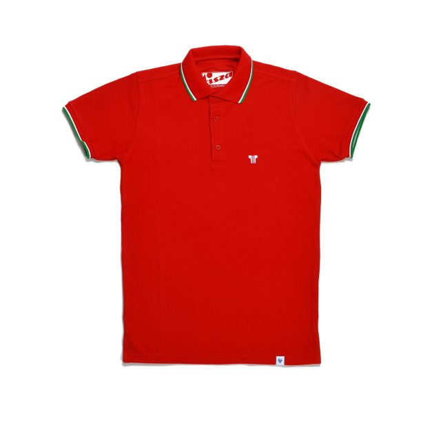 Tisza shoes - Tennis Shirt - Red olympiad