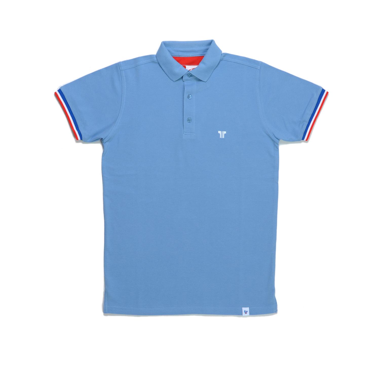 Tisza shoes - Tennis shirt - Steel-blue