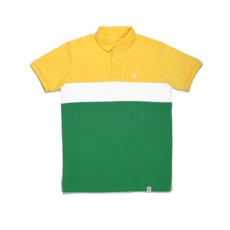 Tisza shoes - Tennis shirt - Yellow-white-green