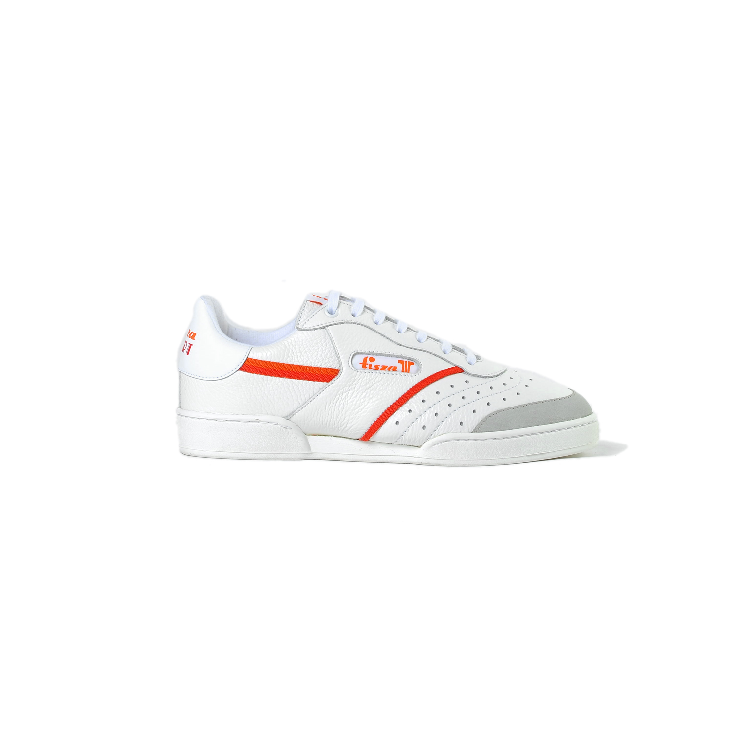 Tisza shoes - Sport - White-red-orange