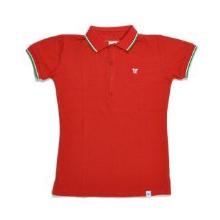Tisza shoes - Women tennis shirt  - Red-olympiad