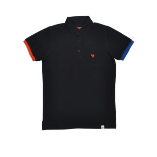 Tisza shoes - Tennis shirt - Black-red-blue
