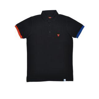 Tisza shoes - Tennis shirt - Black-red-blue