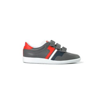 Tisza shoes - Delux - Grey-blue-white-red