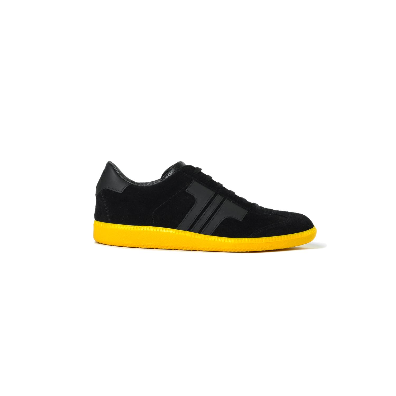 Tisza shoes - Comfort - Black-yellow