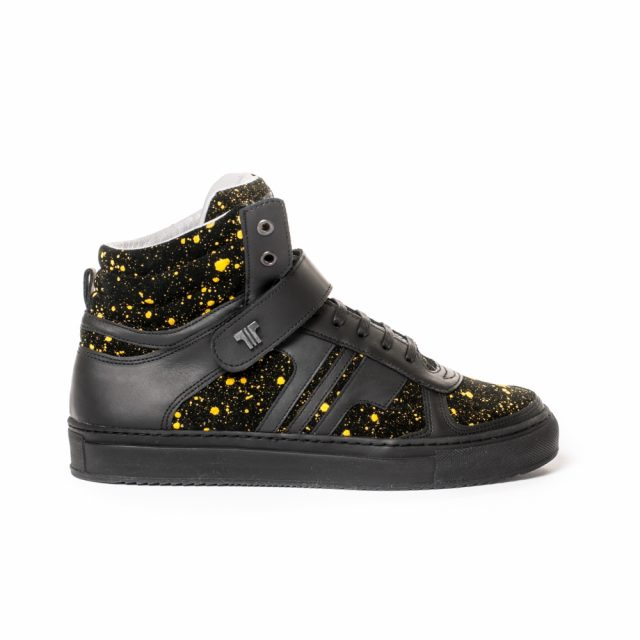 Tisza Shoes - M4 - black-splash yellow