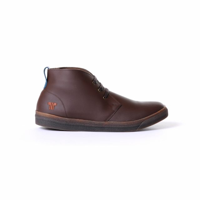 Tisza Shoes - Alfa - brown-bluecoral padded