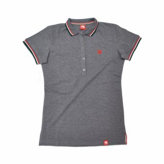 Tisza Shoes - Galléros póló - women tennis shirt grey
